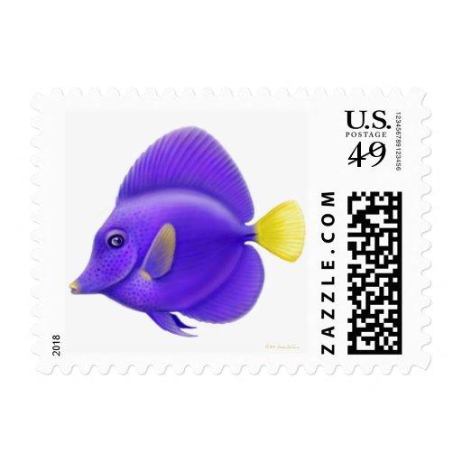 Franqueo púrpura de los pescados del filón de Tang Sellos