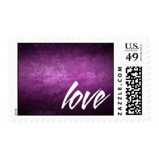 franqueo púrpura del boda del amor de la neblina sellos