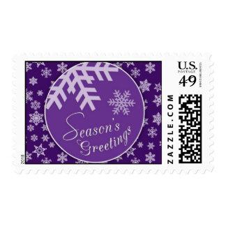 Franqueo púrpura del copo de nieve de los saludos