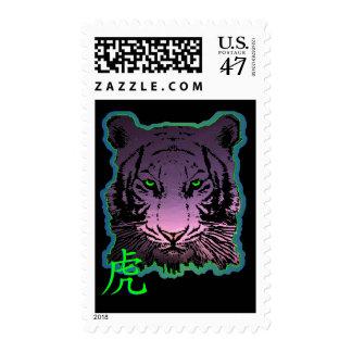 Franqueo púrpura del tigre sellos