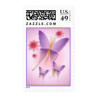 Franqueo púrpura suave de la mariposa