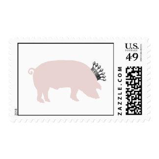 Franqueo real del cerdo sellos postales