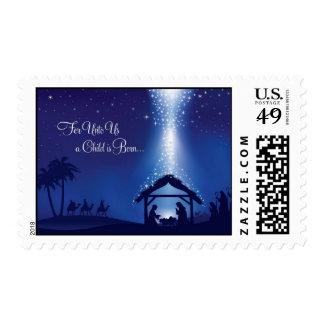 Franqueo religioso del navidad del vintage sellos