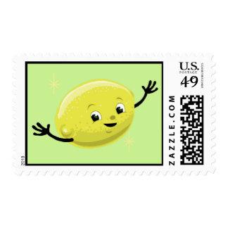Franqueo retro del individuo del limón estampilla