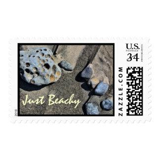 Franqueo - rocas de la playa de Juana Coyle Sello Postal
