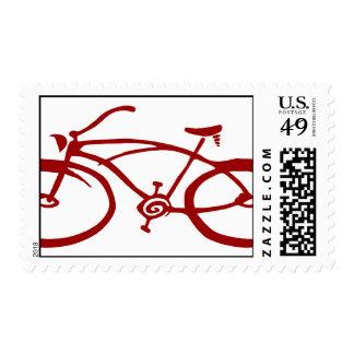 Franqueo rojo de la bicicleta