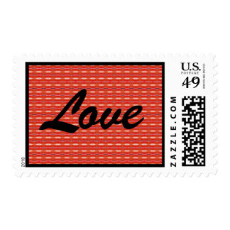 franqueo rojo del amor timbres postales