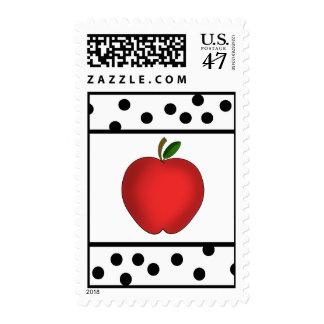 Franqueo rojo del profesor del lunar de Apple Estampillas
