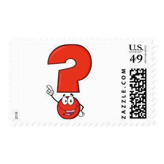 Franqueo rojo del signo de interrogación sellos