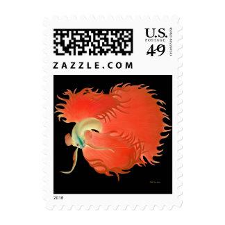 Franqueo rojo grande de los pescados de Betta