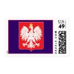 Franqueo rojo polaco del personalizado del escudo