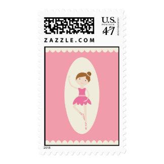 Franqueo rosado de la bailarina 1 sello