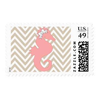 Franqueo rosado de la fiesta de bienvenida al bebé timbres postales