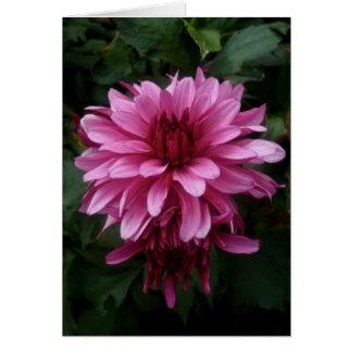 Franqueo rosado de la flor el | tarjeta de felicitación