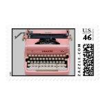 Franqueo rosado de la máquina de escribir del vint
