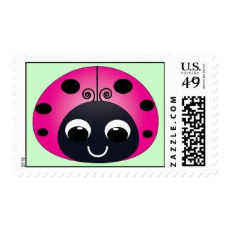 Franqueo rosado de la mariquita timbres postales