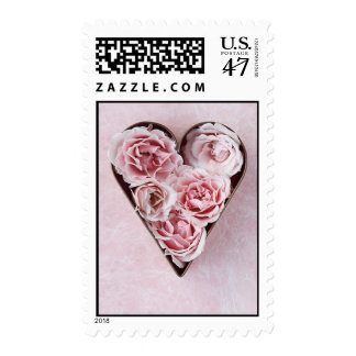 franqueo rosado del cortador de la galleta de los sellos postales
