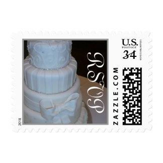 Franqueo RSVP del pastel de bodas