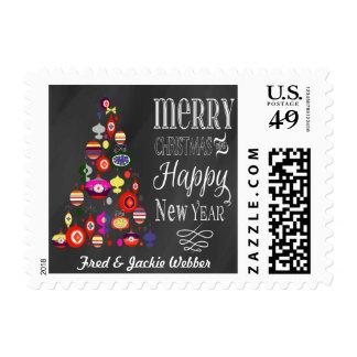 Franqueo rústico del navidad de la pizarra del sellos postales