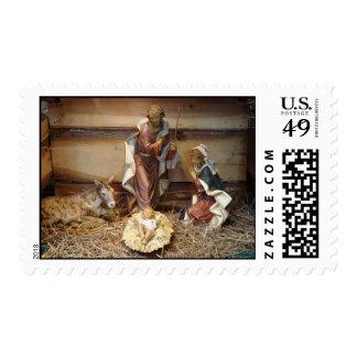 Franqueo santo de la familia timbre postal