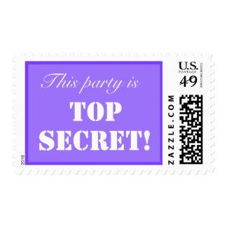 Franqueo secretísimo del fiesta timbres postales