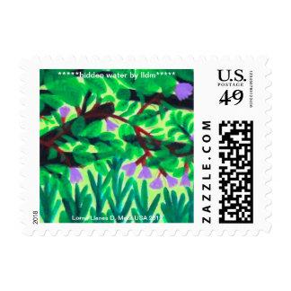 "Franqueo/sello de la ""agua ocultada"" sellos postales"