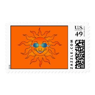 Franqueo soleado sello