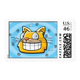 Franqueo sonriente del gato