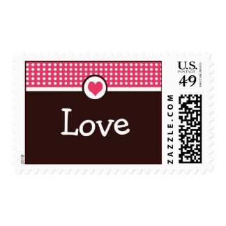 Franqueo Stam del el día de San Valentín del amor