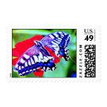 •franqueo Stampღ°● de la mariposa de Swallowtail d