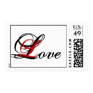 Franqueo Stamp_Red de Love_Wedding, blanco y negro Timbres Postales