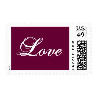 Franqueo Stamp_White del amor en el vino Estampilla