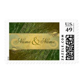 Franqueo sucio elegante de la plantilla de la timbre postal