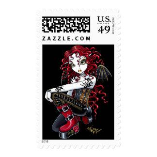 Franqueo tatuado rojo del Faerie de Terri