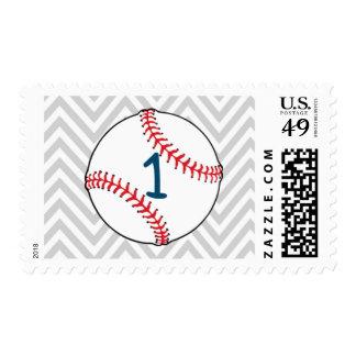 Franqueo temático del cumpleaños del béisbol estampilla