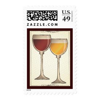 Franqueo temático del vino blanco rojo y del Viejo