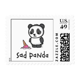 Franqueo triste de la panda sellos