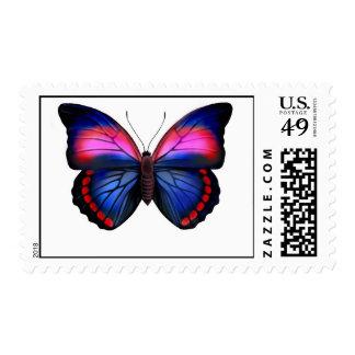 Franqueo tropical exótico de la mariposa estampillas