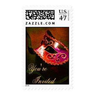 Franqueo veneciano anaranjado de Halloween de la Timbres Postales