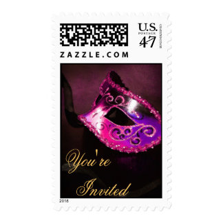 Franqueo veneciano rosado de Halloween de la Sello