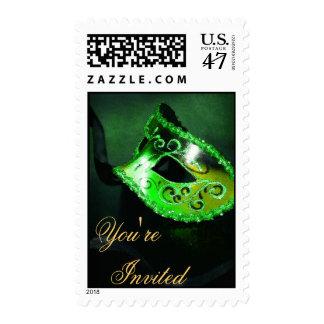 Franqueo veneciano verde de Halloween de la Timbre Postal