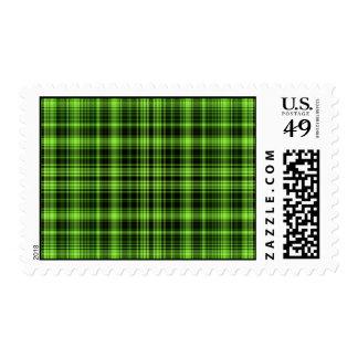 Franqueo verde de la tela escocesa