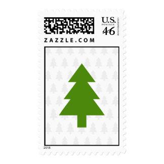 Franqueo verde del árbol de navidad