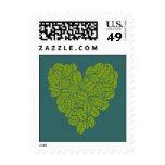 Franqueo verde del corazón