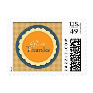 Franqueos de la empanada de la acción de gracias sellos postales