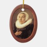 Frans Hals- Anna van der Aar Christmas Tree Ornaments