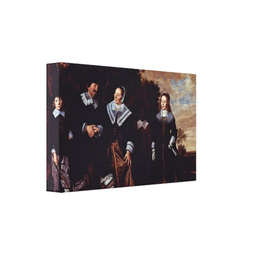 Frans Hals - Family Group in a Landscape Stretched Canvas Prints