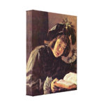 Frans Hals - Lesender Knabe Gallery Wrap Canvas