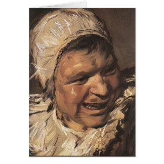 Frans Hals- Malle Babbe (detail) Greeting Card