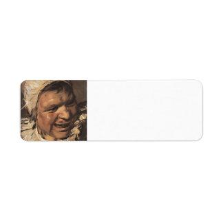 Frans Hals- Malle Babbe (detail) Labels